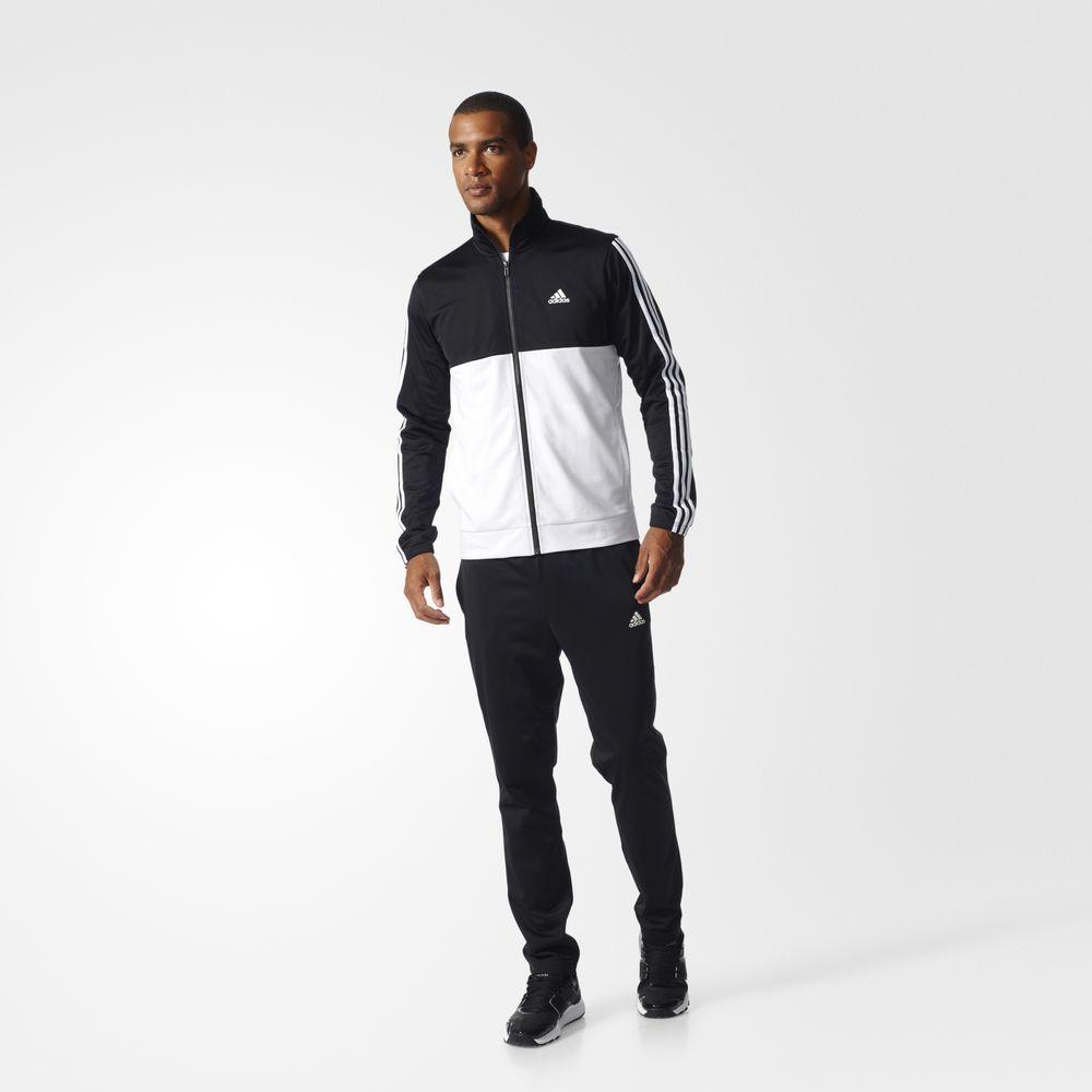 dc4db1687e Adidas Back 2 Basics 3 Csíkos Atlétika Férfi Melegítő Fekete Krém 28734436CR