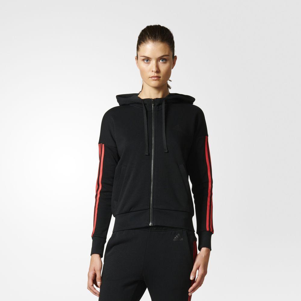 19e412076199 Adidas Kapucnis Pulóver Webáruház | Adidas Essentials 3 Csíkos Női ...