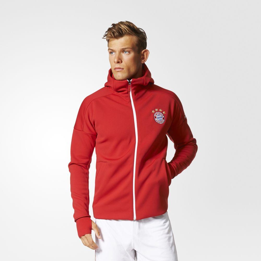 441b109223 Adidas Fc Bayern Munich Anthem Z.N.E. Futball Férfi Dzseki Piros Krém  92147521GU