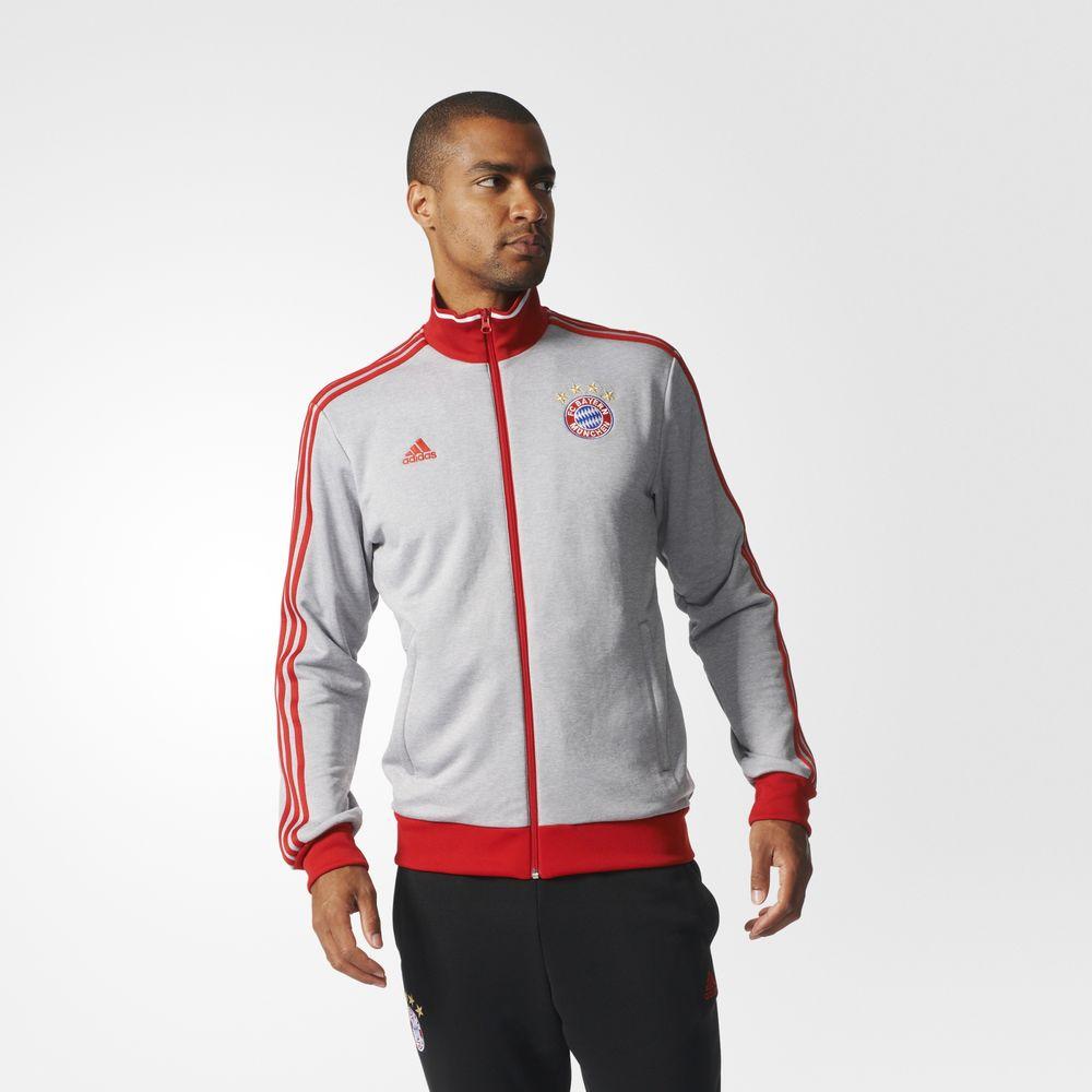 c5f9ca4f71 Adidas Fc Bayern Munich Track Futball Férfi Dzseki Szürke/Piros 76409606EX