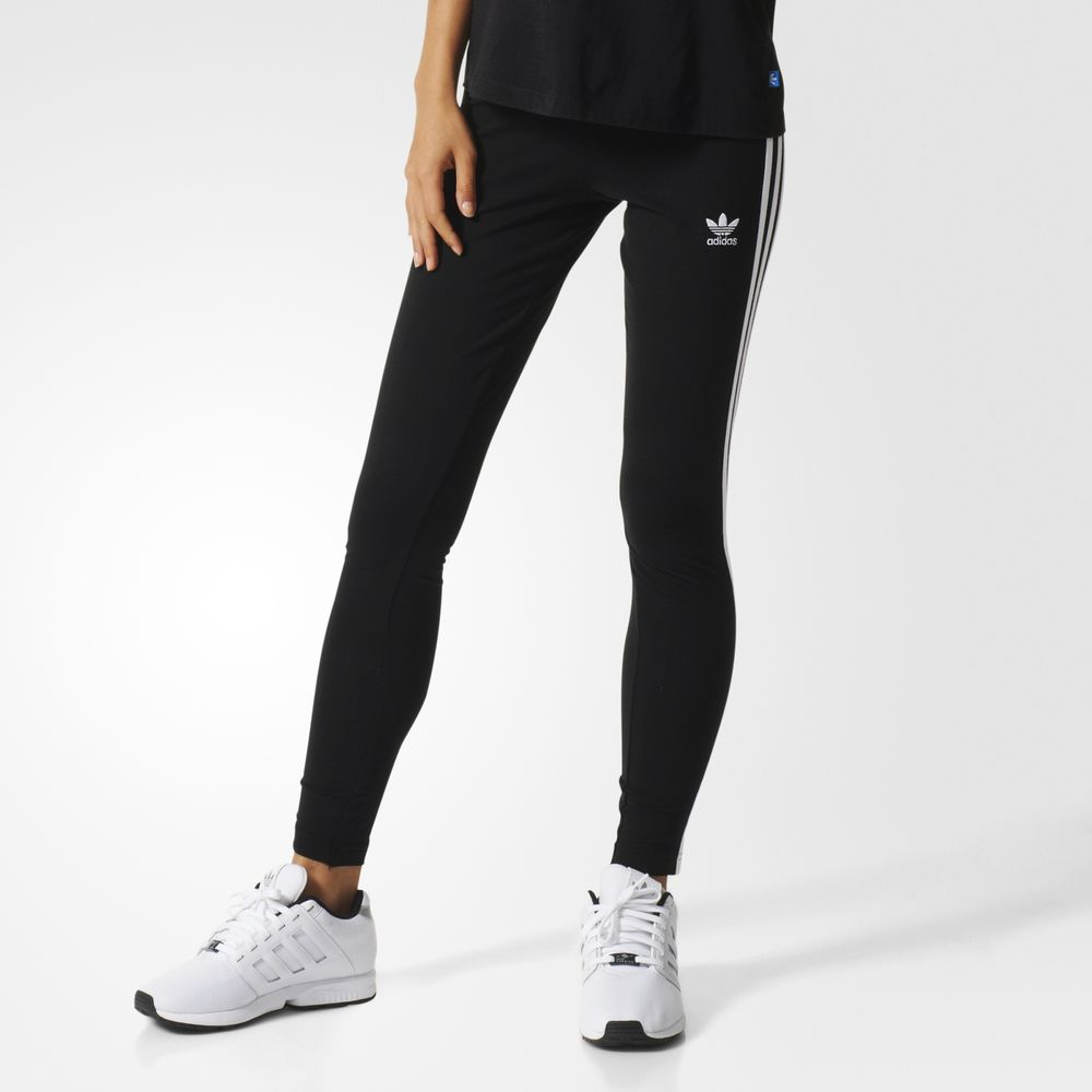 Adidas Originals 3 Csíkos Leggings Női Leggings Fekete 58930358HX