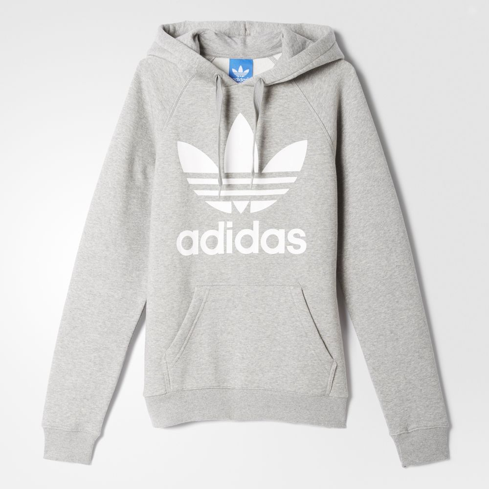 8224be7396 Adidas Originals Originals Trefoil Férfi Kapucnis Pulóver Szürke Krém  28783874LP