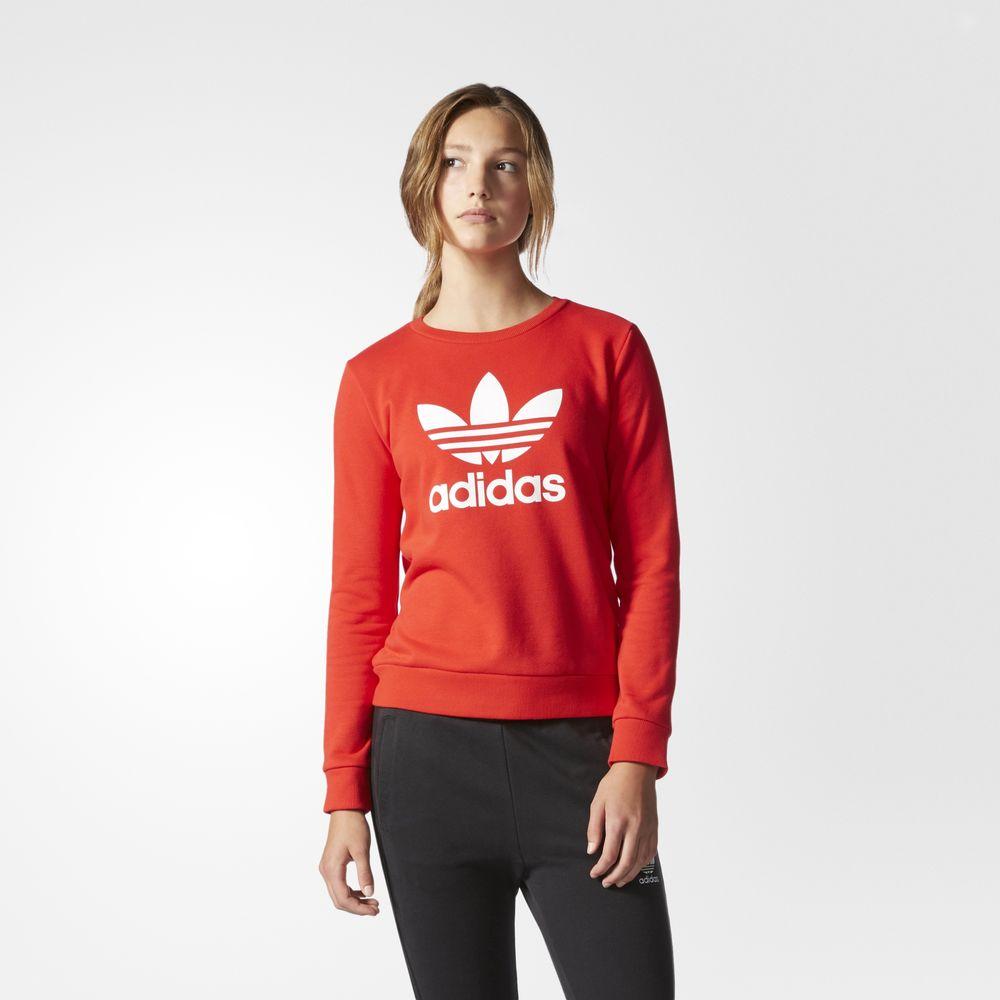 0004036afdef Akciós Adidas Pulóver | Adidas Originals Trefoil Crew Női Pulóver