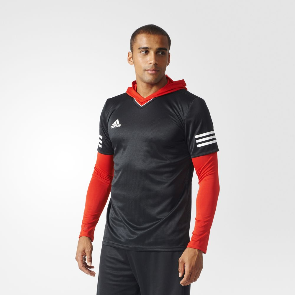Adidas Tango Future And Base Layer Set Futball Férfi Jersey Fekete Piros 64170837WR